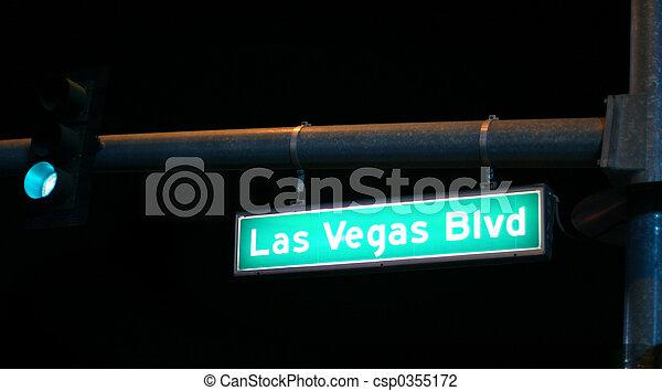ラスベガス, blvd., 印 - csp0355172