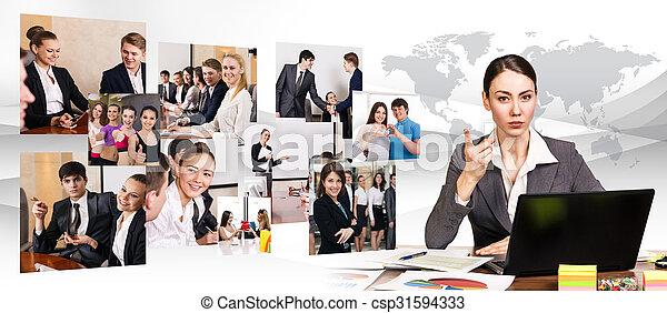 ラップトップ, 女, 仕事, ビジネス - csp31594333