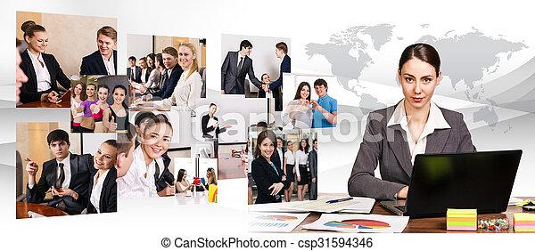 ラップトップ, 女, 仕事, ビジネス - csp31594346