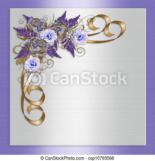 ラベンダー, 招待, 結婚式, 花 - csp10793566