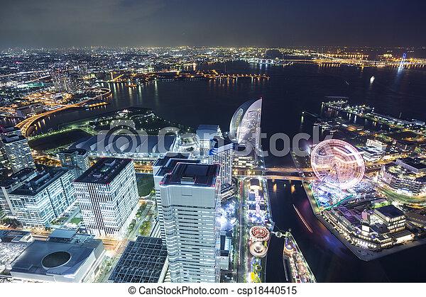 ランドマーク, 上, 横浜, 観点 - csp18440515