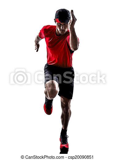 ランナー, ジョガー, 動くこと, シルエット, ジョッギング - csp20090851