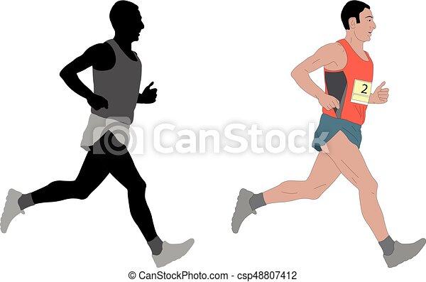 ランナー マラソン イラスト ランナー ベクトル マラソン イラスト