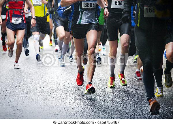 ランナー, マラソン - csp9755467