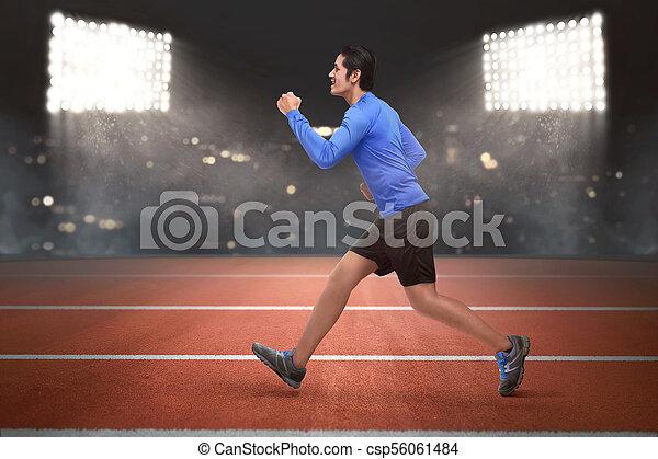 ランナー, 動くこと, アジア人, 若者 - csp56061484