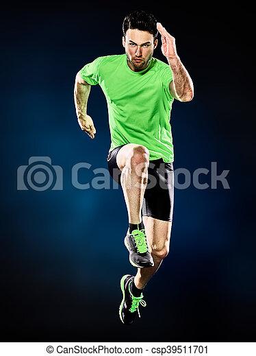 ランナー, 動くこと, 隔離された, ジョガー, ジョッギング, 人 - csp39511701