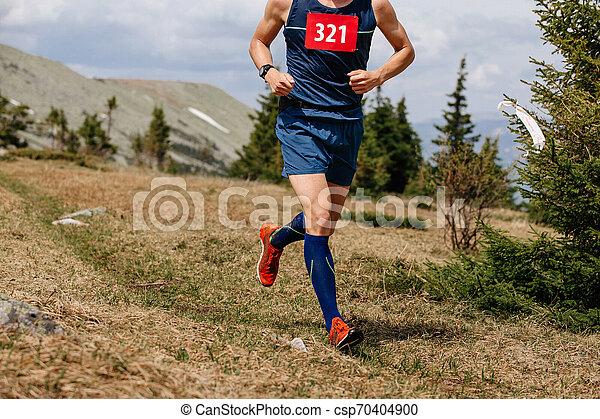 ランナー, 山, 運動選手, 動くこと, 道 - csp70404900