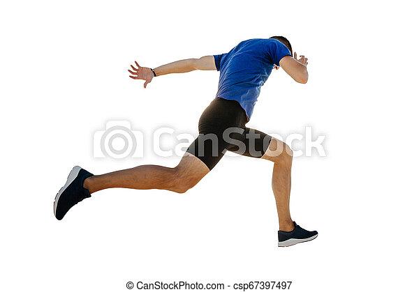 ランナー, 走っている男性, 線, 終わり - csp67397497