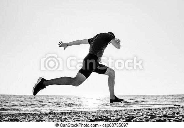 ランナー, 運動選手, 終わり - csp68735097