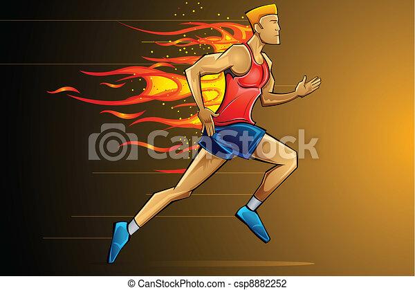 ランナー, fiery - csp8882252