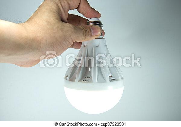 ランプ, 手 - csp37320501