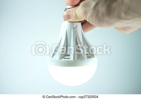 ランプ, 手 - csp37320504