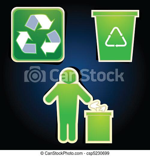 リサイクルしなさい, アイコン - csp5230699