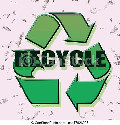 リサイクルしなさい - csp17926206