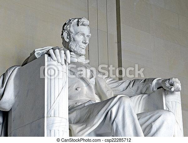 リンカーンの 記念物, dc, アメリカ - csp22285712