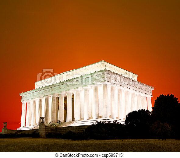 リンカーン, washington d.c., 記念 - csp5937151