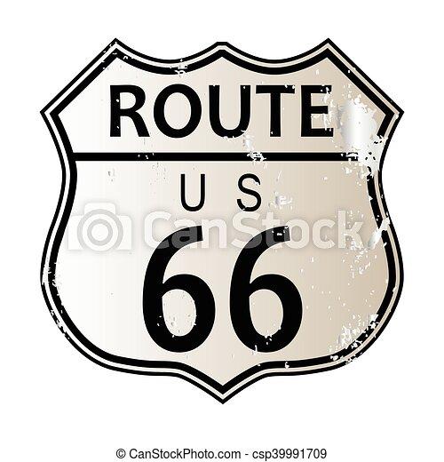 ルート66, ハイウェーの 印 - csp39991709
