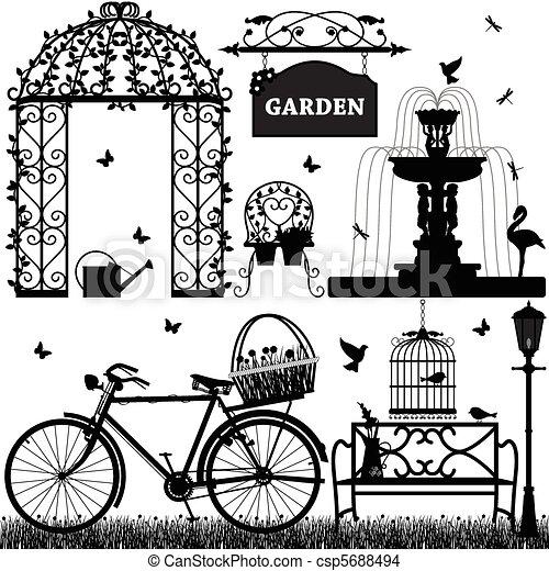 レクリエーションである, 公園, 庭 - csp5688494