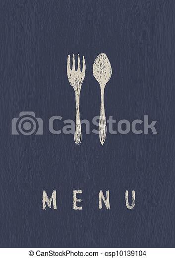 レストラン, a4, menu., 流行, vector., フォーマット - csp10139104