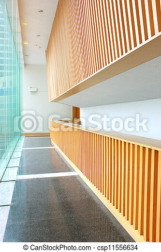 レセプション, 空, ブロック, オフィス, 区域 - csp11556634