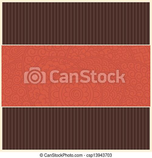 レトロ, カード, テンプレート - csp13943703