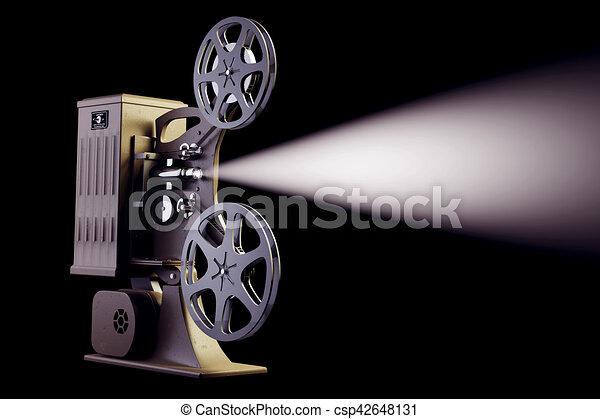 レトロ, フィルム映写機. プロジ...