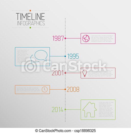 レポート, タイムライン, infographic, テンプレート - csp18898325