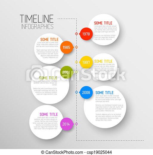 レポート, タイムライン, infographic, テンプレート - csp19025044