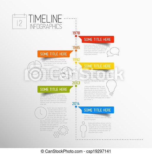 レポート, タイムライン, infographic, テンプレート - csp19297141