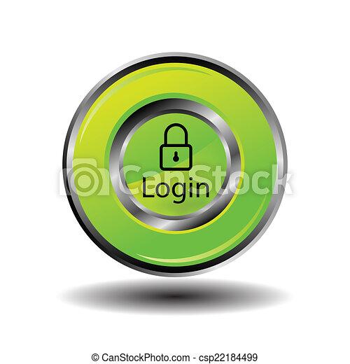 ログイン, アイコン - csp22184499