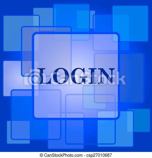 ログイン, アイコン - csp27010687