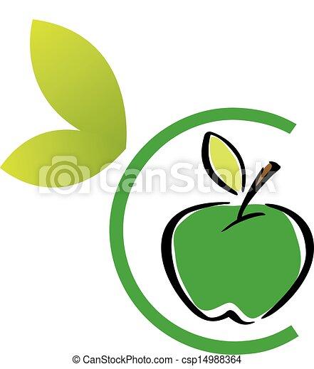 ロゴ, アップル - csp14988364