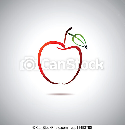 ロゴ, アップル - csp11483780