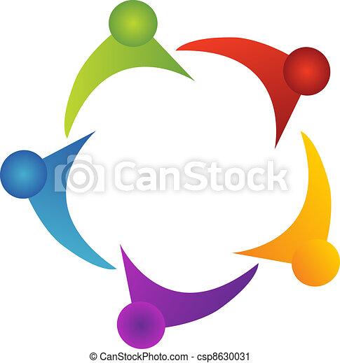 ロゴ, サポート, チームワーク - csp8630031