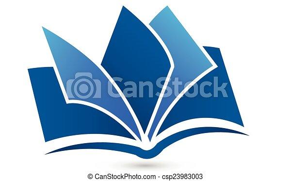 ロゴ, シンボル, ベクトル, 本 - csp23983003