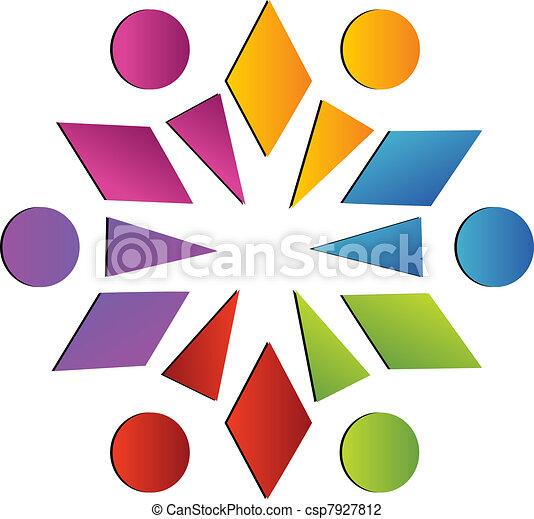 ロゴ, チームワーク - csp7927812