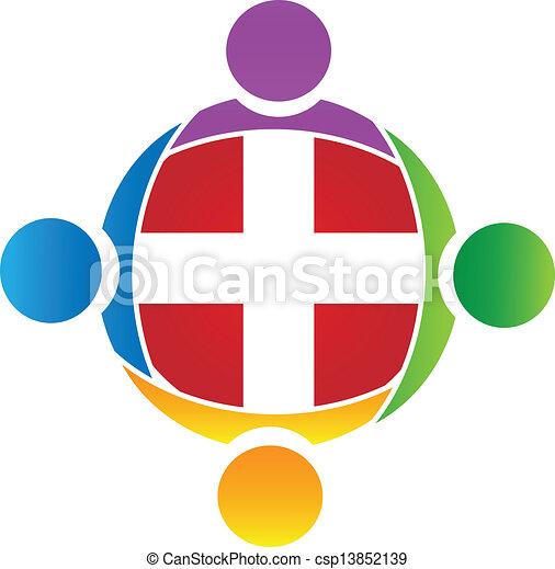 ロゴ, チームワーク, ベクトル, 医学 - csp13852139