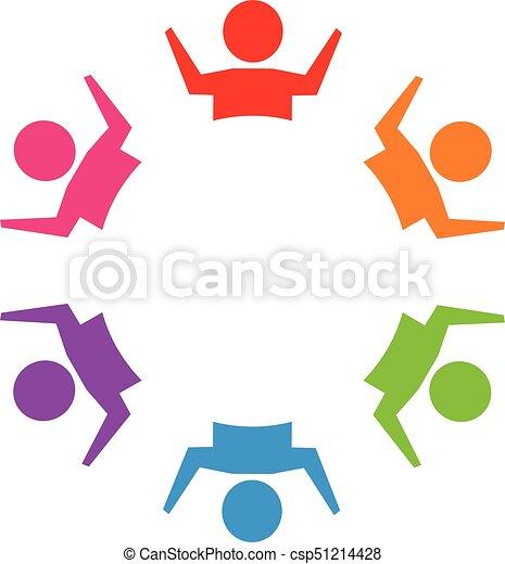 ロゴ, チームワーク, 人々 - csp51214428