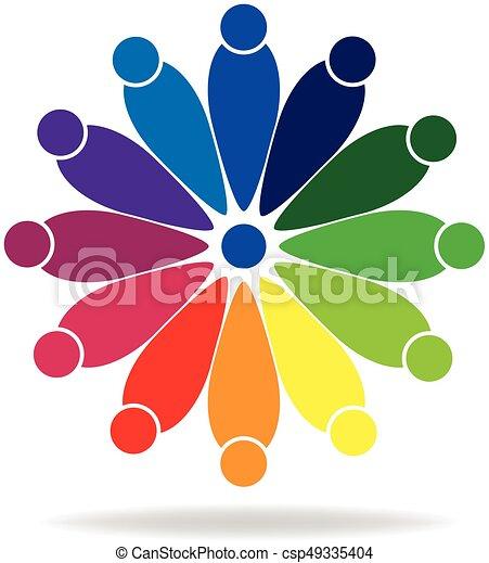 ロゴ, チームワーク, 人々 - csp49335404
