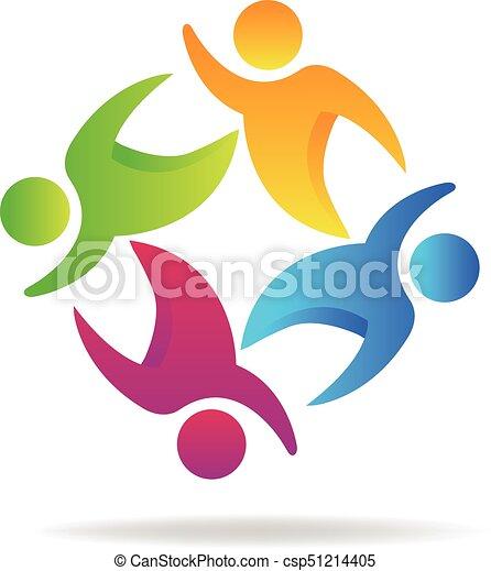 ロゴ, チームワーク, 人々 - csp51214405