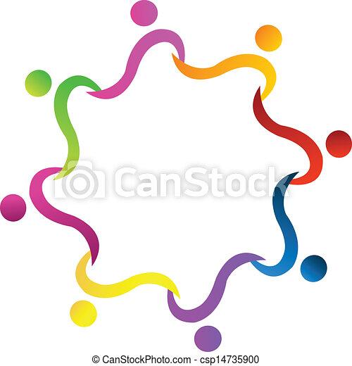 ロゴ, チームワーク, 手を持つ - csp14735900