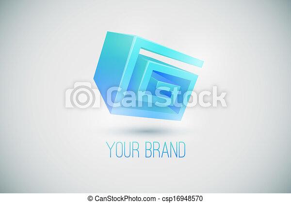 ロゴ, ブランド, あなたの - csp16948570