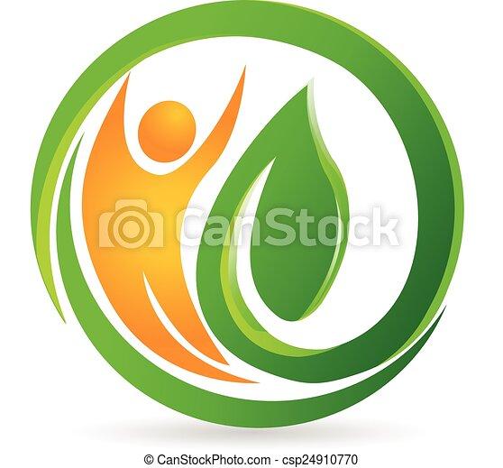 ロゴ, ベクトル, 健康, 自然, 人 - csp24910770