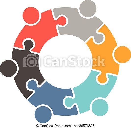 ロゴ, 人々, 家族 - csp36576828
