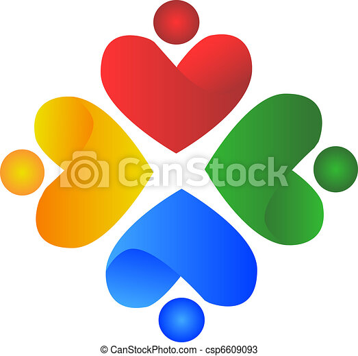 ロゴ, 人々, 心 - csp6609093