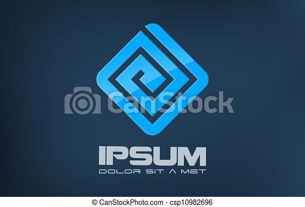 ロゴ, 会社, abstract. - csp10982696