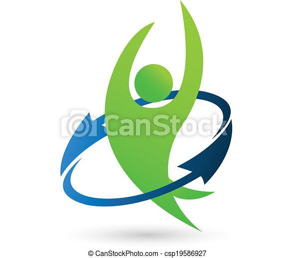 ロゴ, 健康, 自然 - csp19586927