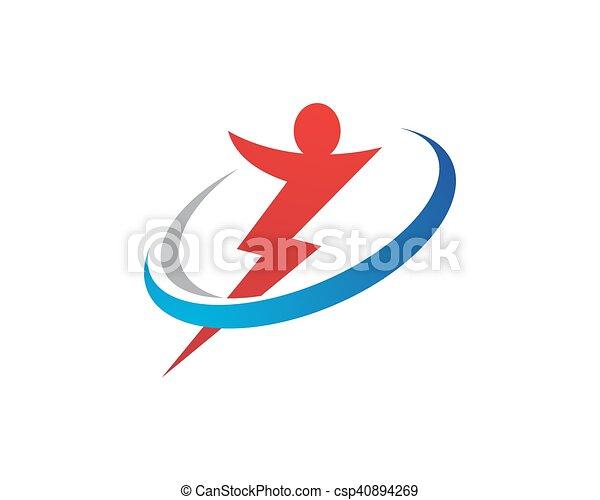 ロゴ, 力, テンプレート - csp40894269