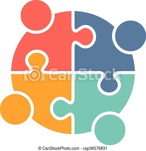 ロゴ, 家族, 人々 - csp36576831