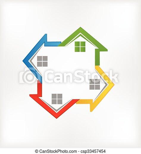 ロゴ, 家 - csp33457454